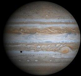 A composite Cassini image of Jupiter.