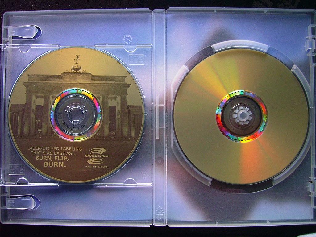 lightscribe labeled disk