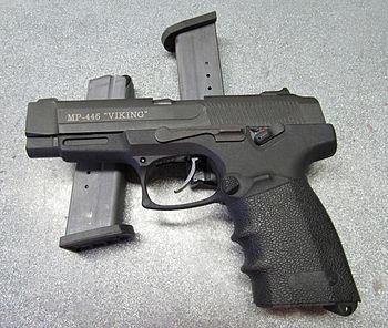 "English: MP-446 ""Viking"" 9mm Handgun"