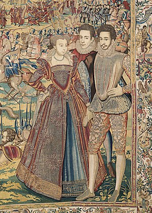 Marguerite de Valois and her brother François,...