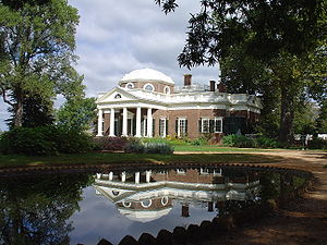 Chinese Chippendale railings on Monticello's r...