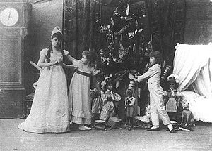 Photo of Stanislava Belinskaya as Clara (left)...