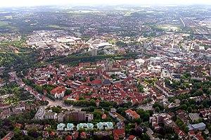 English: Osnabrück downtown Deutsch: Innenstad...