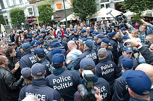 English: Image of a demonstration staged by th...