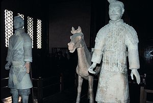 Qin soldier, at Xian, People's Republic of China.