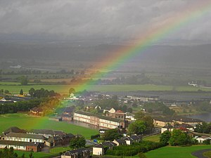 Rainbow at Stirling, Scotland