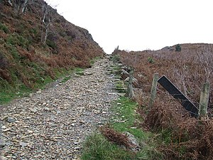 English: Uphill footpath Looking uphill near t...