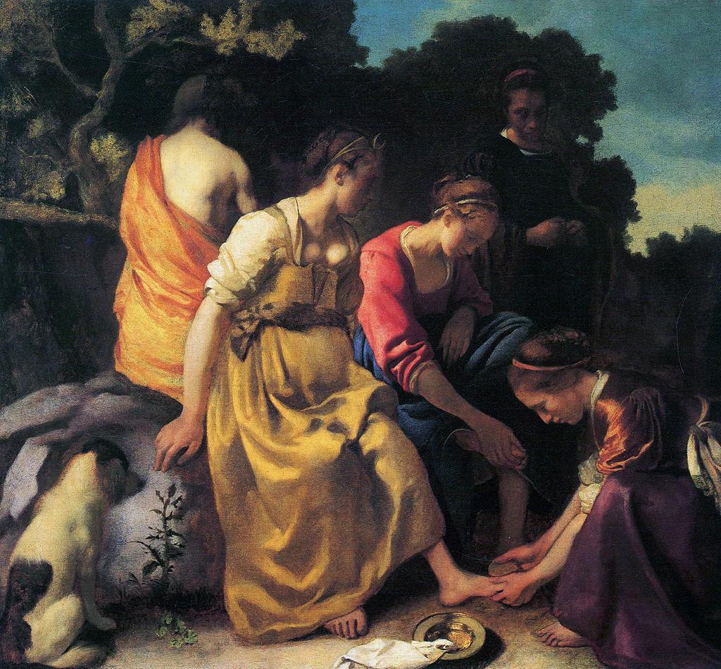 Johannes Vermeer: Diana und ihre Begleiterinnen (1632, gemeinfrei)