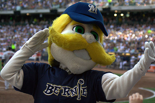 Bernie Brewer in crowd