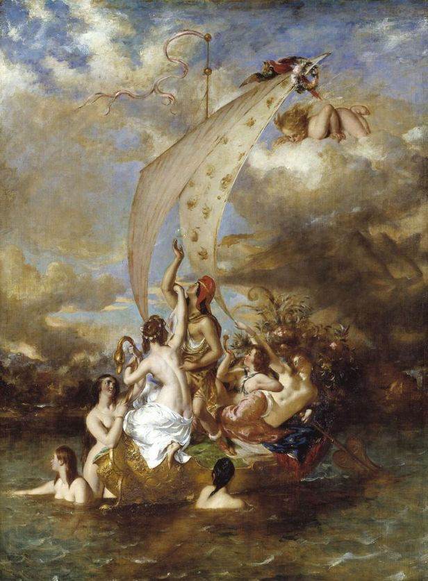 """""""Youth on the Prow, and Pleasure at the Helm"""" by William Etty"""