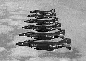 McDonnell Douglas F-4J Phantom II fighters of ...