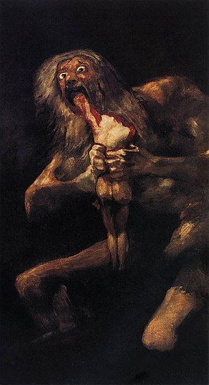 Francisco de Goya y Lucientes - Saturn Devouri...