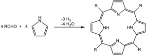 synthesis equation for porphyrins