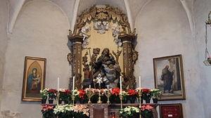 English: Ivrea, church of St. Antony abbott, t...