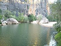 This is a photograph of the Lennard River in t...