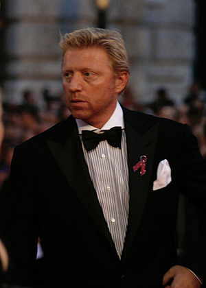 Boris Becker on the red carpet of the Life Bal...