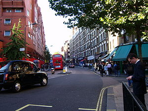Charing Cross Road, London, looking north from...