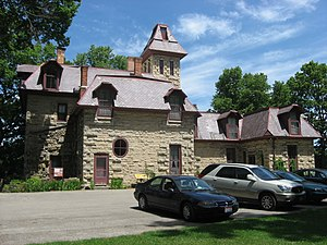 English: Side of Mac-A-Cheek Castle, located o...