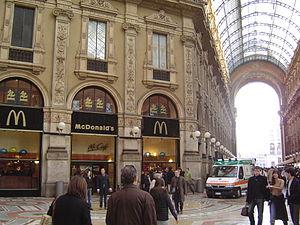 McDonald's nella Galleria Vittorio Emanuele II...
