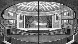 Interior of the Park Theatre, built in 1798