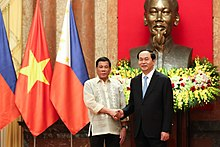 Trần Đại Quang meets Philippine President Rodrigo Duterte, 29 September 2016