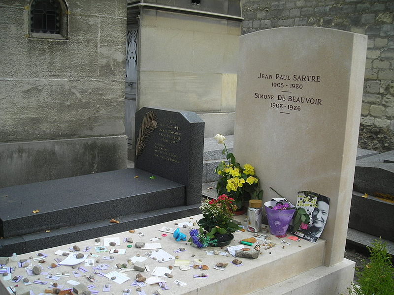 File:Sartre+Beauvoir grave.JPG