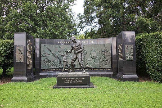 Seabee Memorial - looking N - Arlington National Cemetery - 2011