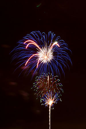 English: Fireworks on the first day of Summerf...