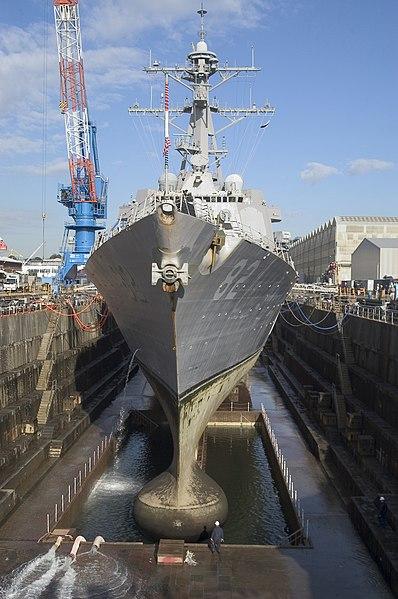 File:USS Lassen in drydock.jpg