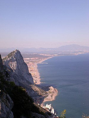 English: View of the Mediterranean shore of th...
