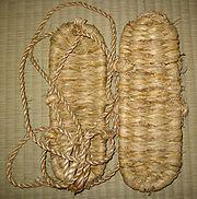 Japanese traditional waraji - straw shoes