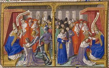 English: Ms 722/1196 f.392r Frederic II (1194-...