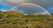 Full featured double rainbow in Wrangell-St. E...