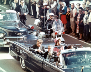 Picture of President Kennedy in the limousine ...