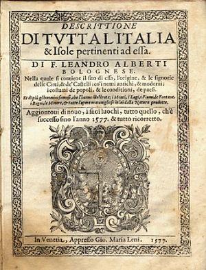 Italiano: Descrittione di tutta Italia, nella ...