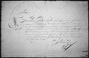The marriage announcement of Napoleon I, Emper...