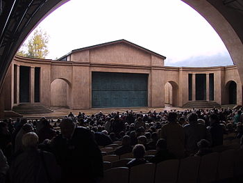 View of the stage of the Oberammergau Passion ...