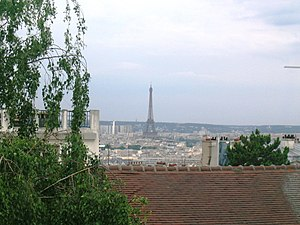 English: The Paris skyline as seen from Sacre ...