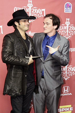 American film directors Robert Rodriguez and Q...