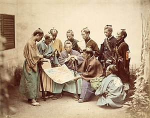 Samurai of the Satsuma clan during the Boshin ...