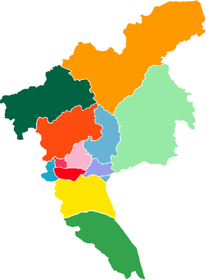 Subdivision of Guangzhou