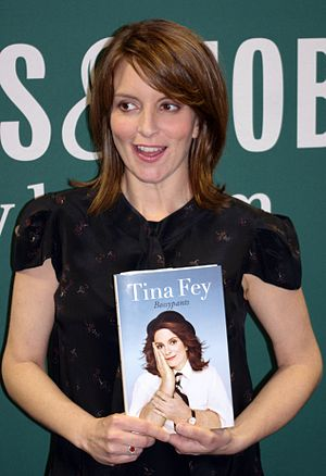 English: Tina Fey at the Union Square Barnes &...