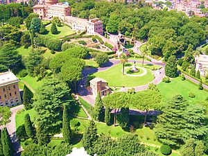 English: Photo of the Vatican Gardens Portuguê...