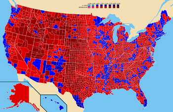 Election results by county. Al Gore George W. Bush