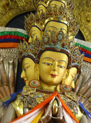 Also inside the Tsuglagkhang Temple, a statue ...