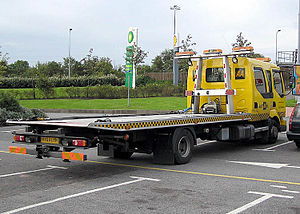 AA car transport vehicle, Bristol, United Kingdom