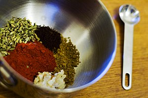 The ingredients for achiote paste: ground anna...