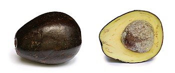 English: Avocado with its cross section. Pictu...
