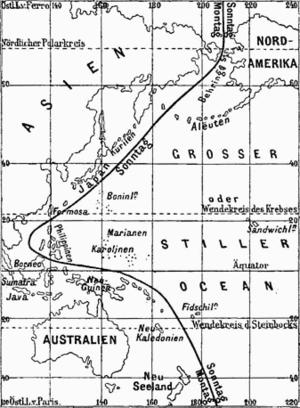Erroneous International Date Line from an 1888...