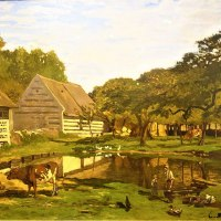 """Farmyard in Normandy"" by Claude Monet"
